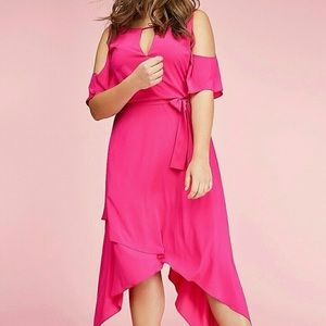 Lane Bryant NWT Pink Shark Bite Dress 26